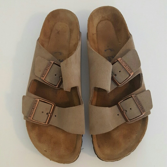 745e86bc66a Birkenstock Shoes - BIRKENSTOCK Arizona Soft Footbed Taupe Suede 37 6